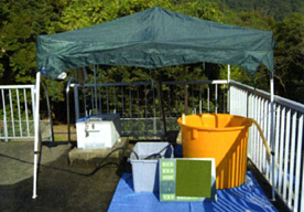 水中ロボット調査・清掃施工に関する機材