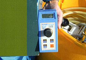 水槽内の有効塩酸濃度確認